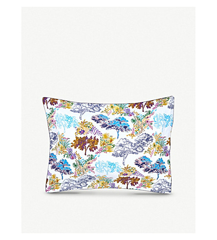 YVES DELORME Paysage foliage-print pillowcase (Multi