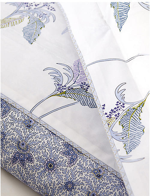 YVES DELORME Plumes cotton-percale fitted sheet range