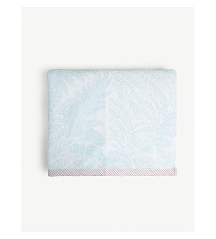 YVES DELORME Sources cotton bath sheet 140cm x 70cm (Tourquoise