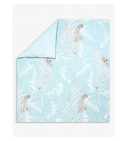 YVES DELORME Sources printed cotton king duvet cover (Multi
