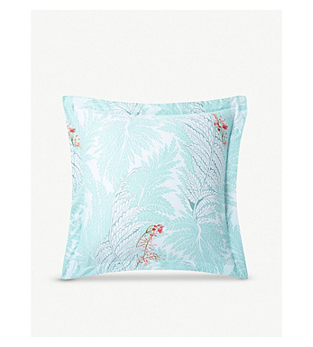 YVES DELORME Sources printed silk and cotton-blend cushion cover 45cm x 45cm (Multi