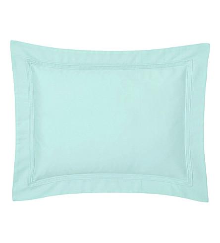 YVES DELORME Triomphe celadon boudoir pillow case (Celadon