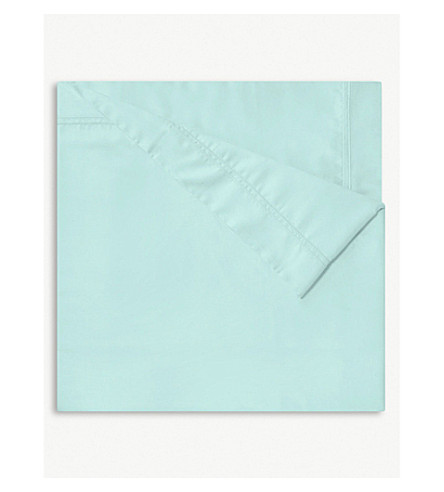 YVES DELORME Triomphe Celadon single cotton duvet cover (Celadon