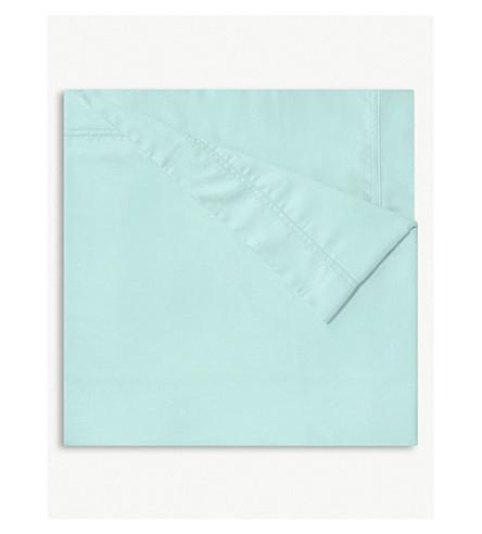 YVES DELORME Triomphe Celadon cotton flat sheet (Celadon