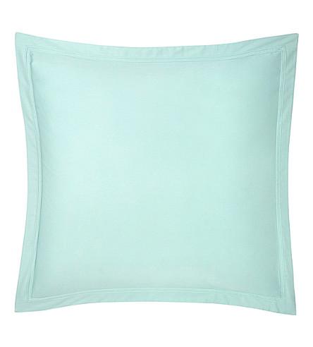 YVES DELORME Triomphe Celadon square pillow case (Celadon