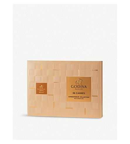 GODIVA Milk chocolate carres box of 36