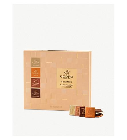 GODIVA Chocolate carres assortment box of 60