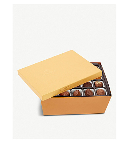 GODIVA 90-piece Gold chocolate gift box