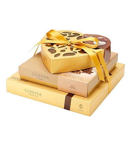 GODIVA Gold Tower chocolate selection