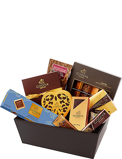 Chocolate gift baskets chocolate food foodhall selfridges godiva luxurious gift basket chocolate selection negle Image collections