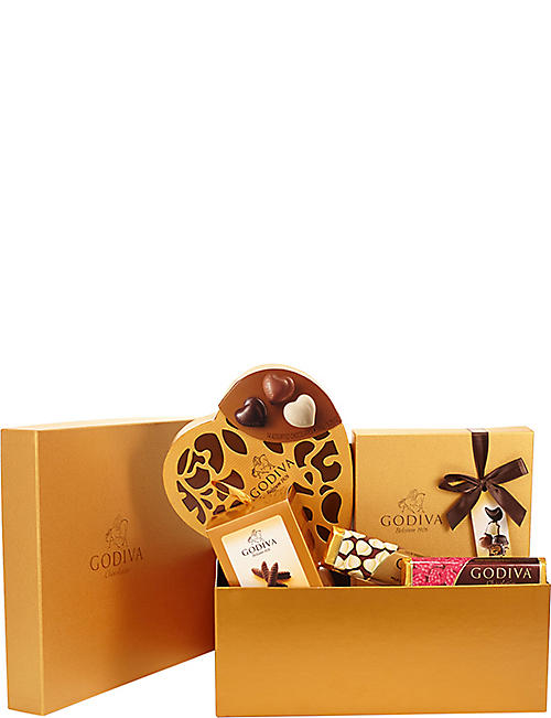 Chocolate gift baskets chocolate food foodhall selfridges godiva gift basket for her chocolate selection negle Image collections
