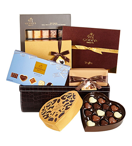 GODIVA Iconique Hamper chocolate selection