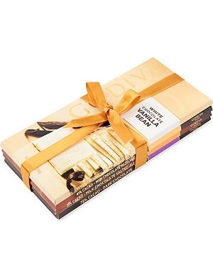 GODIVA Pack of four Assorted Chocolate bars
