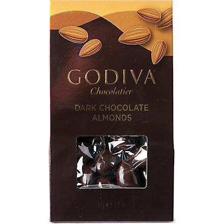 GODIVA Dark chocolate almonds 57g