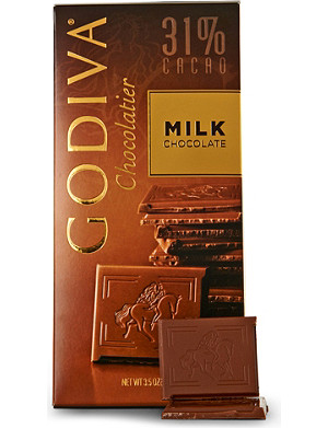 GODIVA Milk chocolate tablet 100g