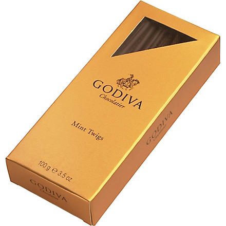 GODIVA Mint dark chocolate twigs 100g