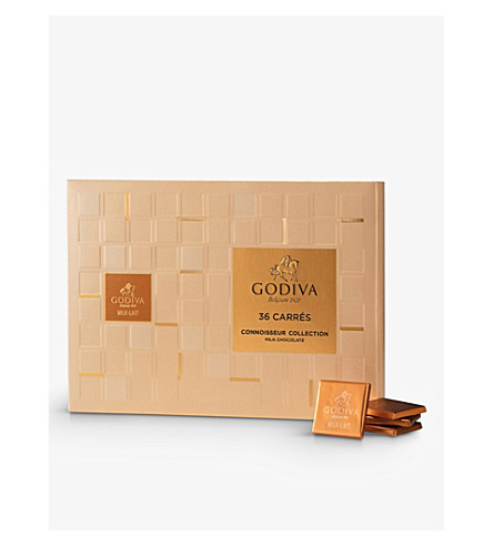 GODIVA Milk chocolate carrés 36-piece 180g