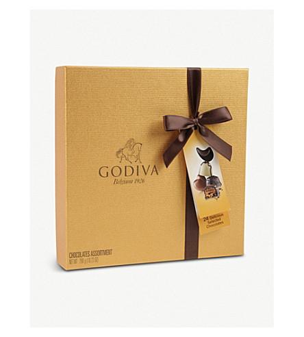 GODIVA 金 Ballotin 24 件各式巧克力盒290g