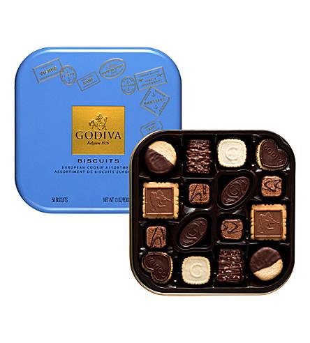 GODIVA Chocolate biscuits 50-piece gift tin 368g
