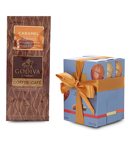 GODIVA Sablés Biscuits and Caramel Coffee gift set