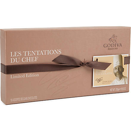 GODIVA Les Tentations du Chef 18-piece assorted chocolates 270g