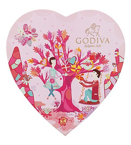 GODIVA - Valentine\'s Day Heart Chocolate Gift Box, 14 pcs ...