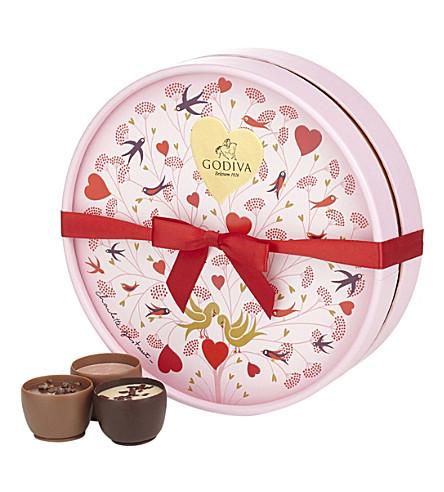 GODIVA Valentine's 2016 round chocolate box