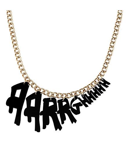 TATTY DEVINE Aarrghhhh necklace (Black