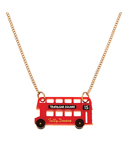 TATTY DEVINE London bus necklace (Red