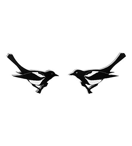 TATTY DEVINE Magpie earrings (Black