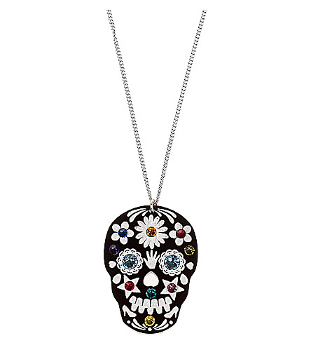 TATTY DEVINE Sugar skull necklace (Black