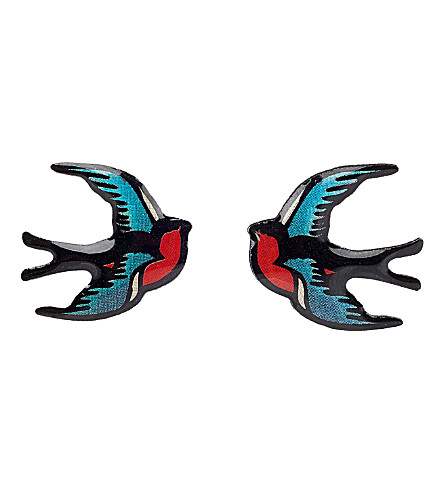TATTY DEVINE Swallow earrings (Multi