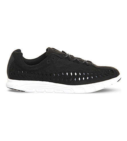 NIKE Mayfly cutout suede trainers (Black