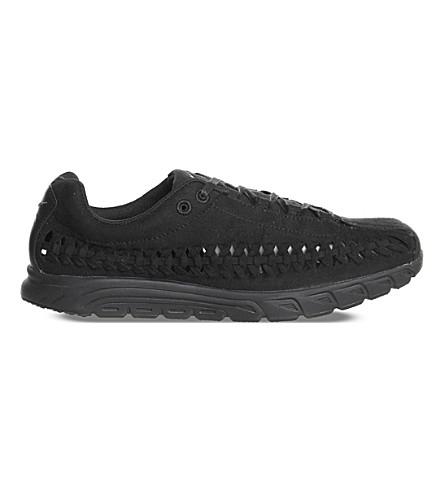 NIKE Mayfly cut-out suede sneakers (Black+dark+grey
