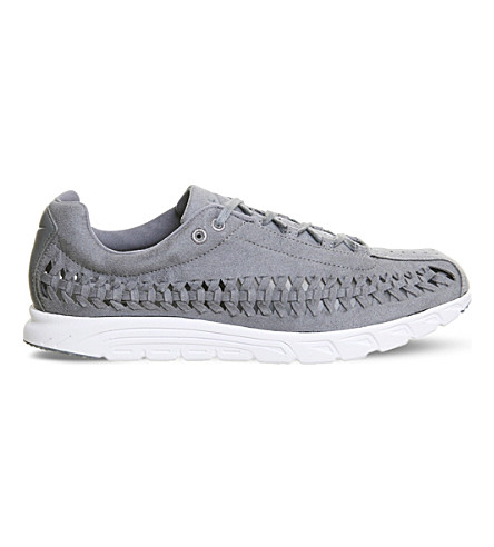 NIKE Mayfly cut-out suede trainers (Cool+grey+white