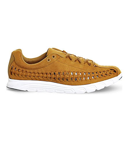 NIKE Mayfly cut-out suede sneakers (Bronze