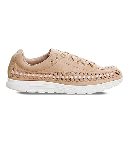 NIKE Mayfly cut-out suede sneakers (Vachetta+tan+pink