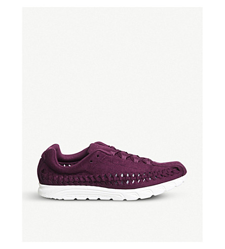 NIKE Mayfly woven suede trainers (Bordeaux+sail