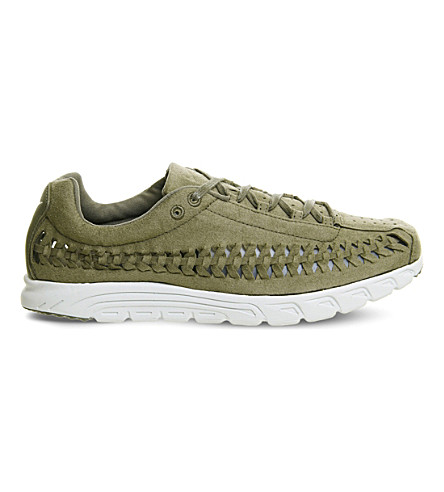 NIKE Mayfly cutout suede trainers (Medium+olive+bone