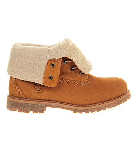 TIMBERLAND Teddy fleece leather boots (Wheat