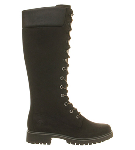 TIMBERLAND 14 inch premium nubuck leather boots (Black+nubuck