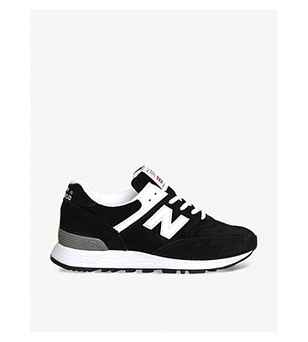 NEW BALANCE 576 suede trainers (Black/white