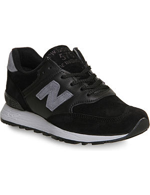 NEW BALANCE 576 suede and leather trainers