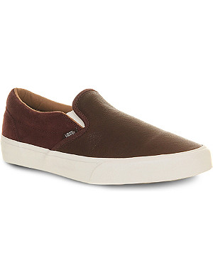 VANS Classic slip-on leather trainers