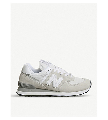 NEW BALANCE 574 suede and mesh trainers (Off+white