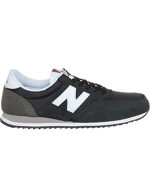 NEW BALANCE 420 suede and mesh trainers
