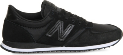 new balance 420 black mesh trainers