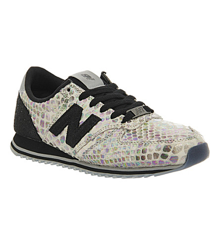 NEW BALANCE u420 suede and mesh trainers (Black