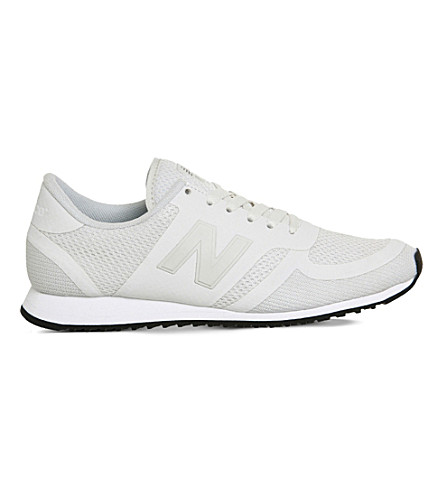 NEW BALANCE U420 mesh and moulded rubber trainers (White black