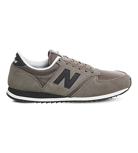 NEW BALANCE U420 suede sneakers (Grey+blue